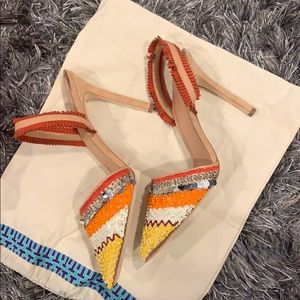 Tory Burch Multicolored Slingback heels